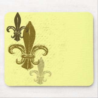 Three Fleur De Lis Mouse Pad