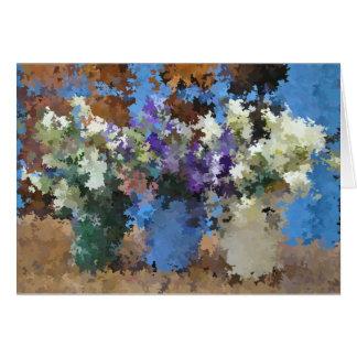 Three flower vases note card