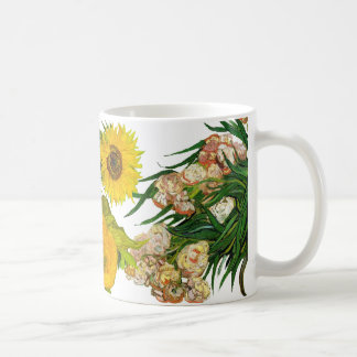 Three Flowers by Van Gogh Coffee Mug