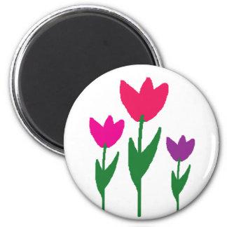 Three Flowers Magnet