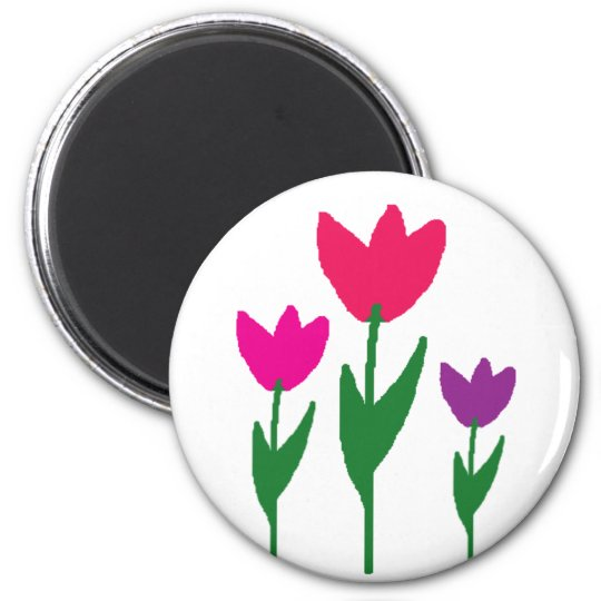 Three Flowers Magnet