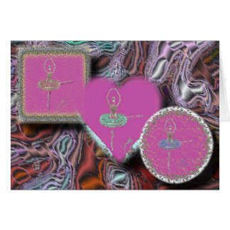 Three Fuettes in Rose Shapes-5x7-200dpi Greeting Card