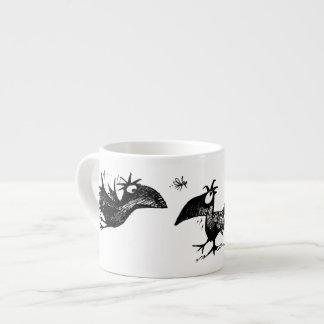 Three Funny Black Crows Espresso Cup