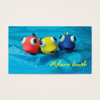Three Funny Fishes Business Card