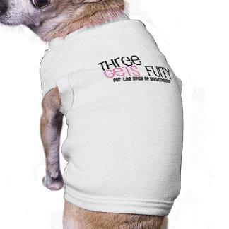 Three Gets Furry Doggie Shirt