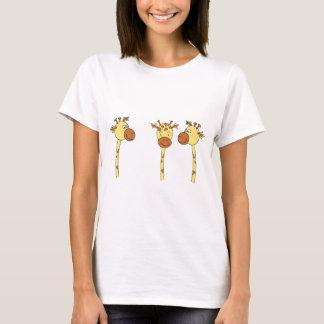 Three Giraffes Cartoon. T-Shirt