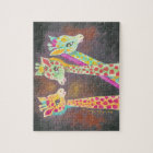 Three Giraffes Jigsaw Puzzle