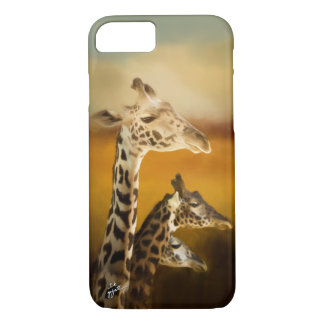 Three Giraffes Photographic Artistic Elegant iPhone 8/7 Case