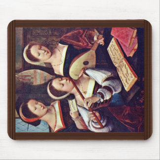 Three Girls Playing Musical Instruments By Meister Mouse Pads