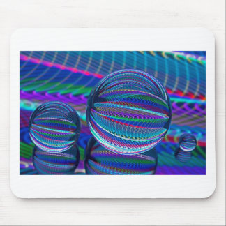 Three Glass balls in colour Mouse Pad