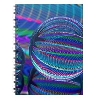 Three Glass balls in colour Notebooks