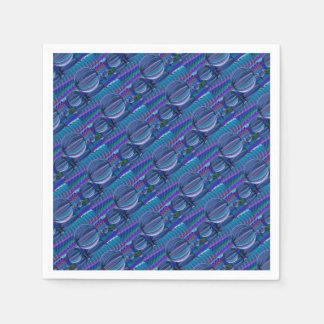 Three Glass balls in colour Paper Napkin