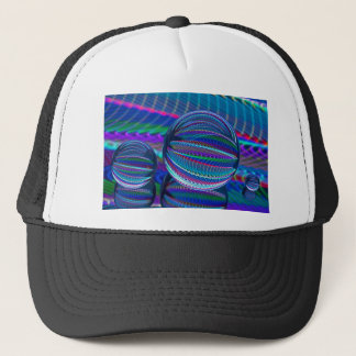 Three Glass balls in colour Trucker Hat