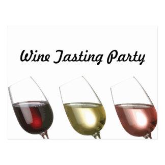 Three Glasses of Wine Custom invitation Postcard