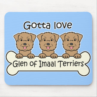 Three Glen of Imaal Terriers Mouse Pad