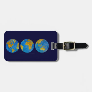 Three Globes Luggage Tag