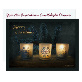 Three Glowing Candles Card