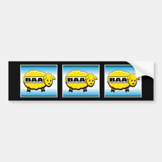 Three Gold Baa's Slot Machine Bumper Sticker