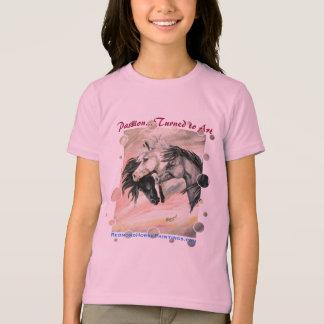 Three Grey Horses w/dot edge T-Shirt