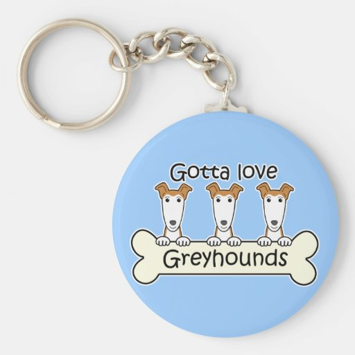 Three Greyhounds Key Chains