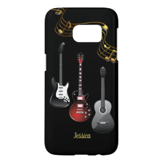 Three Guitars and Music Notes, Name