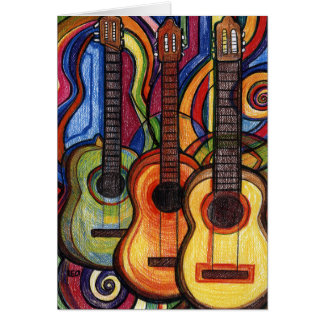 Three Guitars Card