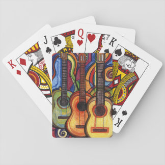 Three Guitars Playing Cards