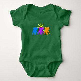Three Happy elephants Baby Bodysuit