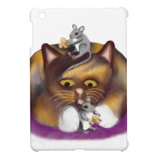 Three Happy Mice and their Calico Friend iPad Mini Case