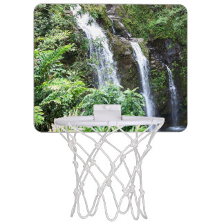 Three Hawaiian Waterfalls Basketball Hoop