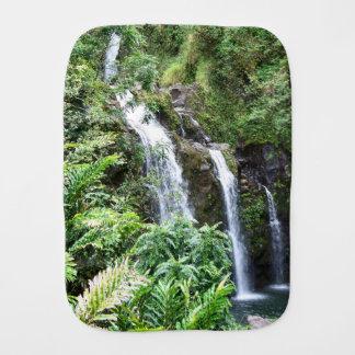 Three Hawaiian Waterfalls Burp Cloth