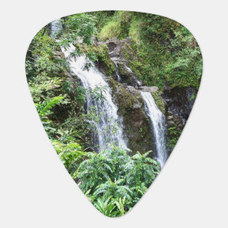 Three Hawaiian Waterfalls Guitar Pick