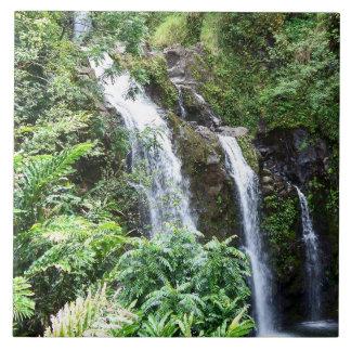 Three Hawaiian Waterfalls Photo Tile