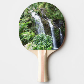 Three Hawaiian Waterfalls Ping Pong Paddle