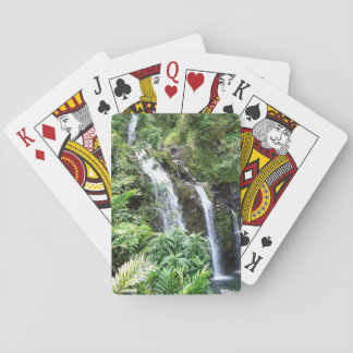 Three Hawaiian Waterfalls Playing Cards