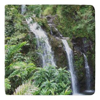 Three Hawaiian Waterfalls Trivet