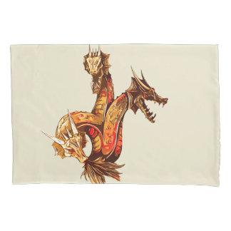 Three Headed Copper Dragon Pillowcase
