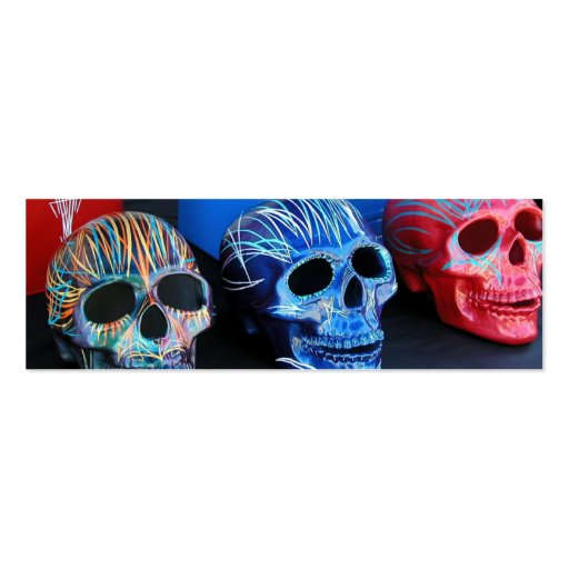 Three Heads (skulls) Pack Of Skinny Business Cards