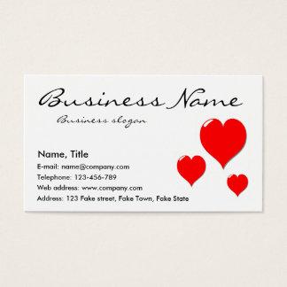 Three Hearts Business Card