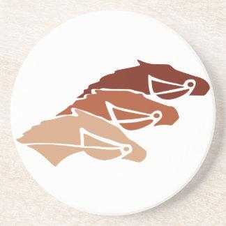 Three Horse Silhouettes Coaster