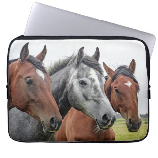 Three Horses Laptop Sleeve