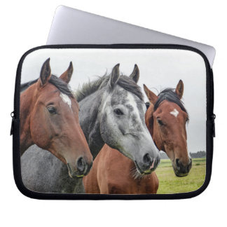 Three Horses Laptop Sleeve