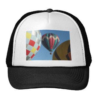 Three hot air balloons cap