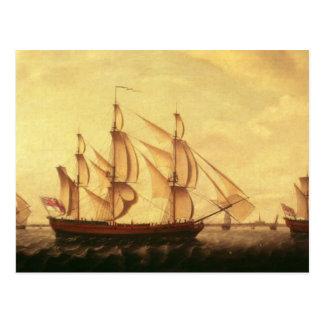 Three Hudson Bay ships in the Thames Postcard