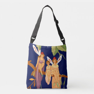 """Three in a Tree"" Cross-Body Tote Tote Bag"