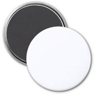 Three Inch Round Fridge Magnet: Ghost White.