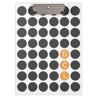 Three Initial Dotted Clipboard