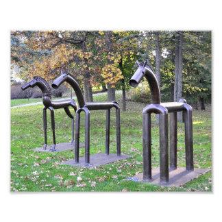Three Iron Horses Photo Art