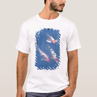 Three Japanese koi fish in pond T-Shirt