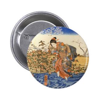 Three Japanese Women 6 Cm Round Badge